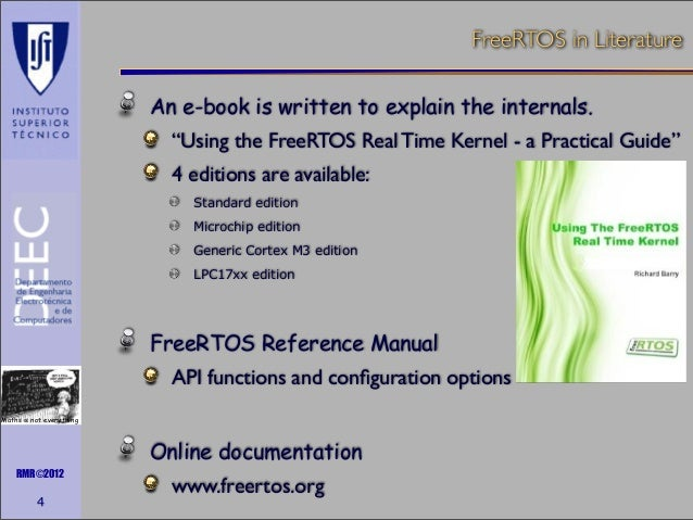 freertos reference manual api functions and configuration options