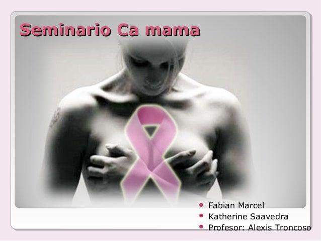 Seminario Ca mamaSeminario Ca mama  Fabian Marcel  Katherine Saavedra  Profesor: Alexis Troncoso