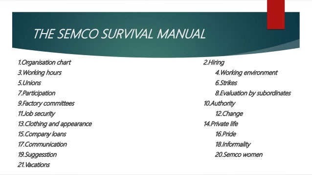 semco survival manual