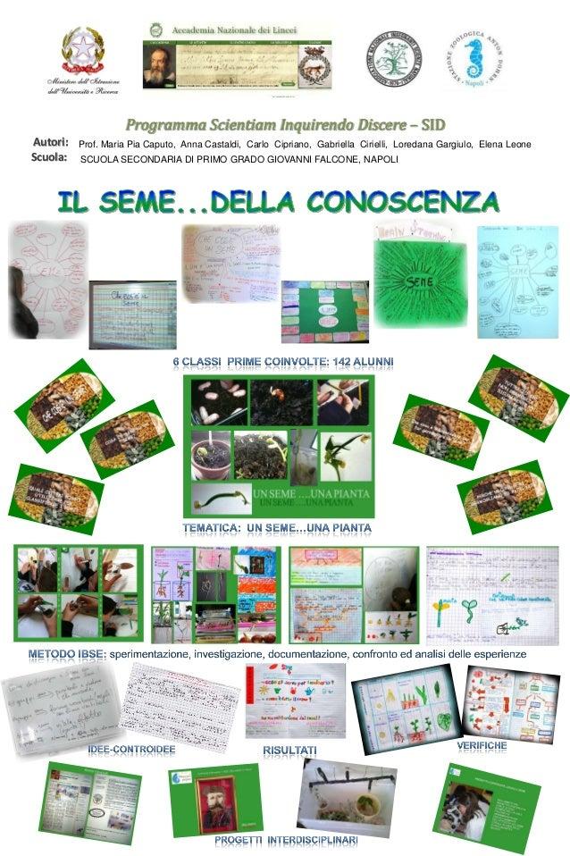 Programma Scientiam Inquirendo Discere – SID Autori: Scuola:  Prof. Maria Pia Caputo, Anna Castaldi, Carlo Cipriano, Gabri...