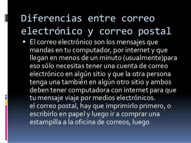 Semejanzas y diferencias entre el correo electronico y for Oficina de correo postal