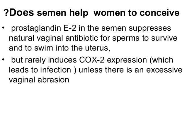 Pregnancy semen anus prostagladins
