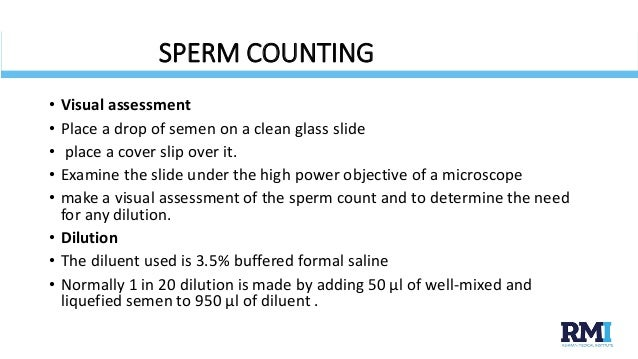 Sperm count in seman