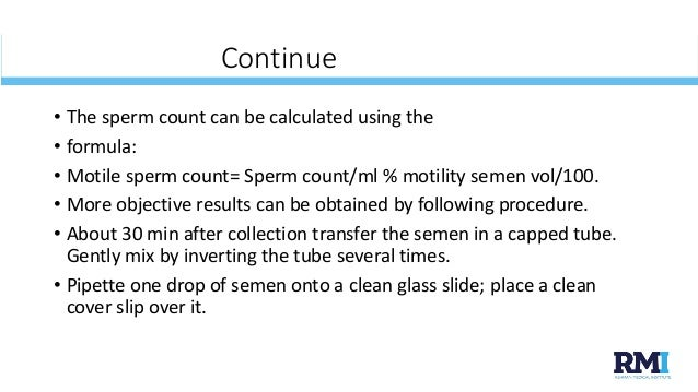 semen analysis procedure