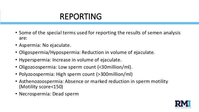 sperm analysis Normal