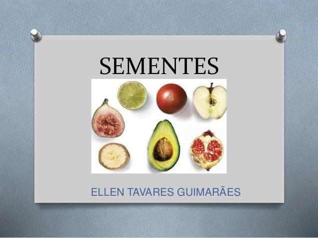 SEMENTES ELLEN TAVARES GUIMARÃES