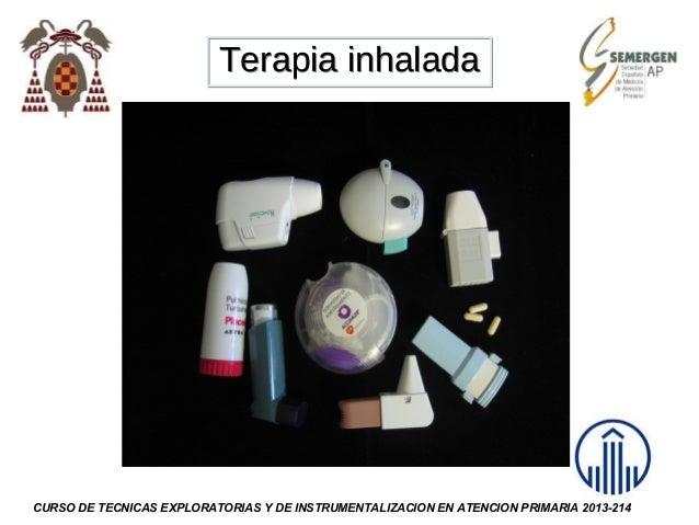 Terapia inhalada  CURSO DE TECNICAS EXPLORATORIAS Y DE INSTRUMENTALIZACION EN ATENCION PRIMARIA 2013-214