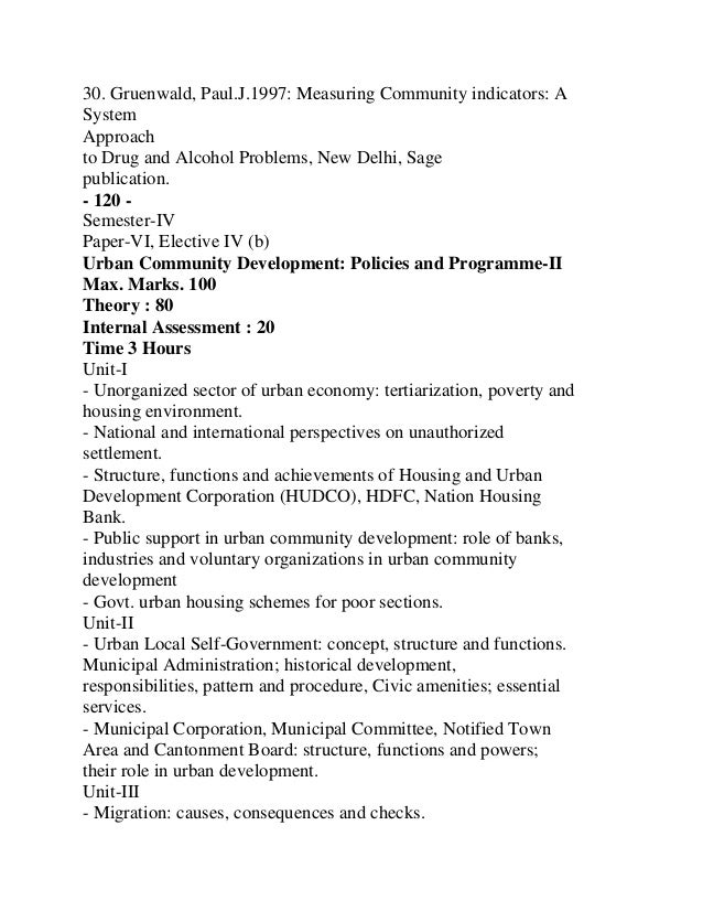 16. Govt .of India : Report of Ministry of Housing and UrbanDevelopment.17. Singh, Sham.S. 1992 : Urban Planning and Devel...