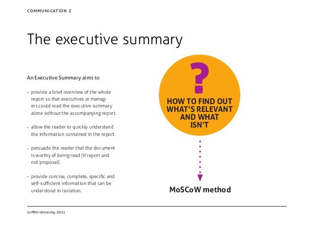 what is an executive overview