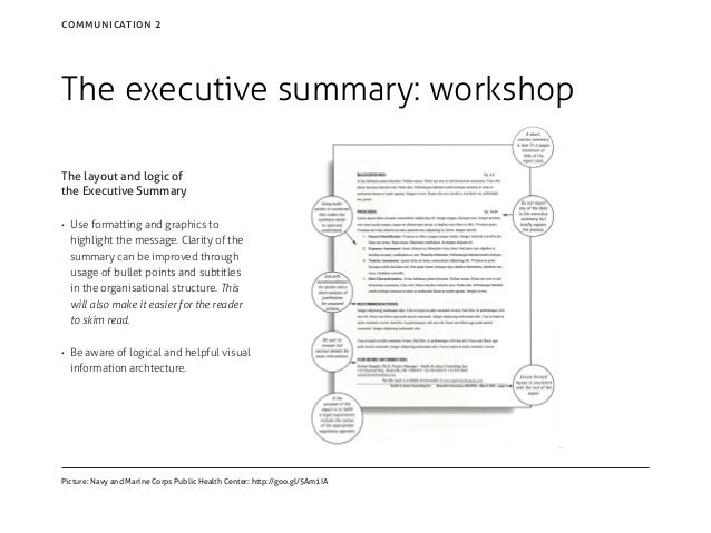 formatting executive summary