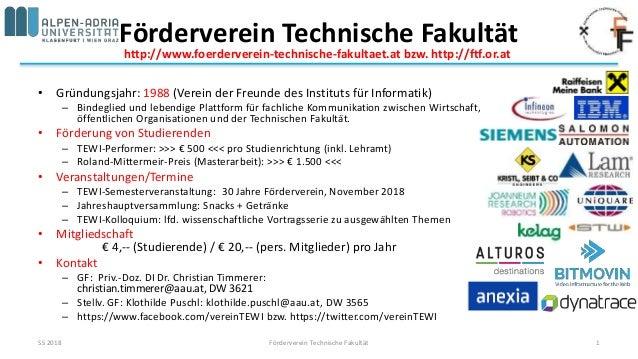 Förderverein Technische Fakultät • Gründungsjahr: 1988 (Verein der Freunde des Instituts für Informatik) – Bindeglied und ...