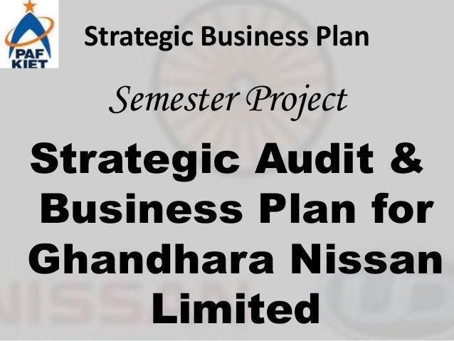 Nissan strategic plan