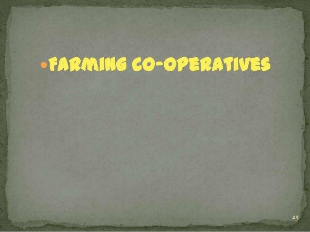 Farming co-operatives  25