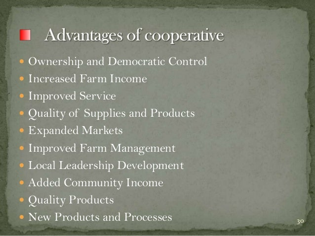  Ownership and Democratic Control   Increased Farm Income  Improved Service  Quality of Supplies and Products  Expand...