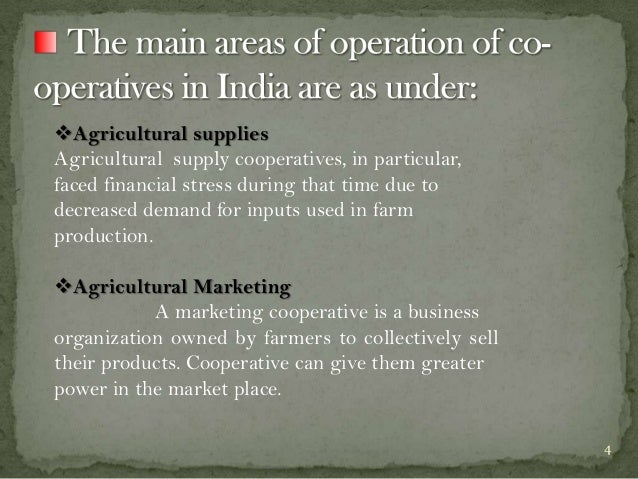 Agricultural supplies Agricultural supply cooperatives, in particular, faced financial stress during that time due to dec...