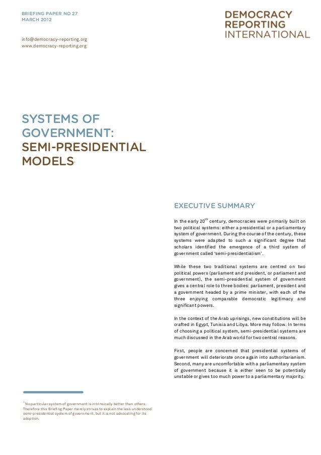 the semi presidential system in france politics essay This is not an example of the work written by our professional essay writers   the french hybrid system has provided a model for a number of countries  in a  presidential system, political and administrative powers are divided between  ( there are exceptions – germany's semi-parliamentary system has relatively  strong.