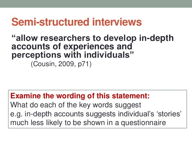 Structured interview