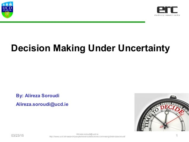 Risk and Uncertainty modeling with application in energy