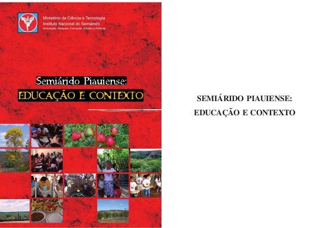 SEMIÁRIDO PIAUIENSE: EDUCAÇÃO E CONTEXTO
