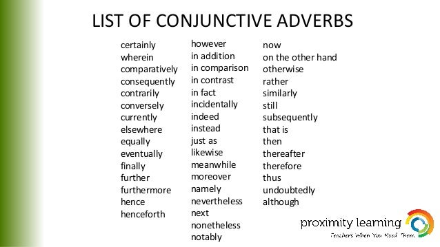 list of conjunctions and their meanings pdf