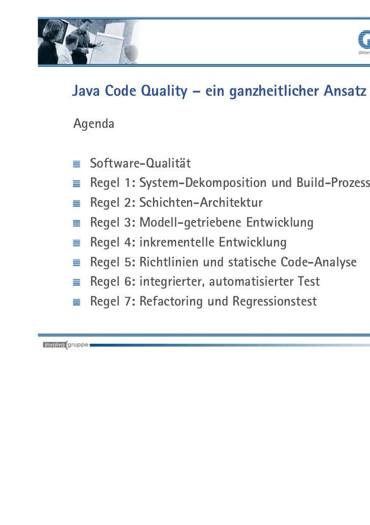 Java Code Quality: Gute Software braucht guten Code - Regeln für vers…