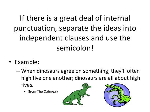 Examples Of Semicolon Acurnamedia
