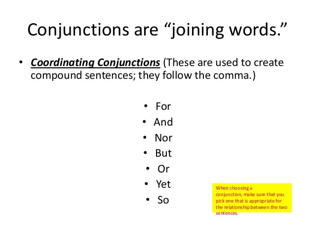 Commas before conjunctions (e.g., and, or, but)