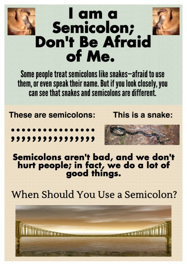 When to Use Semicolons