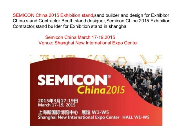 Exhibition Stand Builders China : Semicon china exhibition stand sand builder and