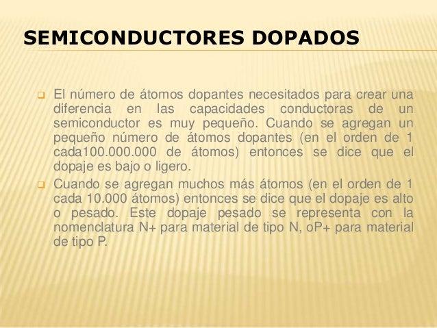  El número de átomos dopantes necesitados para crear una diferencia en las capacidades conductoras de un semiconductor es...