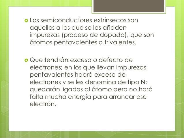 Semiconductores Dopados   En la producción de semiconductores, se    denomina dopaje al proceso intencional de    agregar...