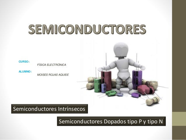 Semiconductores Intrínsecos Semiconductores Dopados tipo P y tipo N CURSO: FÍSICA ELECTRÓNICA ALUMNO: MOISES ROJAS AQUISE