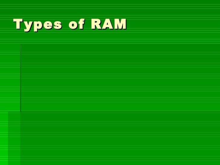 Types of RAM