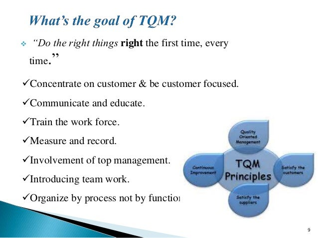 the main characteristics of total quality management The total quality approach to quality management - free download as powerpoint presentation (ppt), pdf file (pdf), text file (txt) or view presentation slides online.