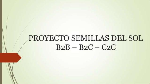 PROYECTO SEMILLAS DEL SOL B2B – B2C – C2C