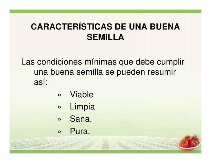caracteristicas de semillas
