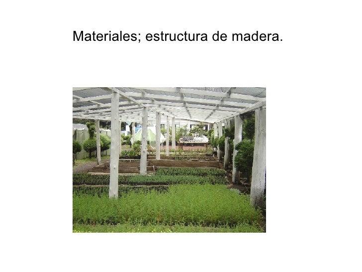 Semilleros y viveros instalaciones y materiales empleados for Vivero estructura