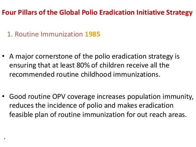 Current strategies for eradication of polio for Polio transmission swimming pools