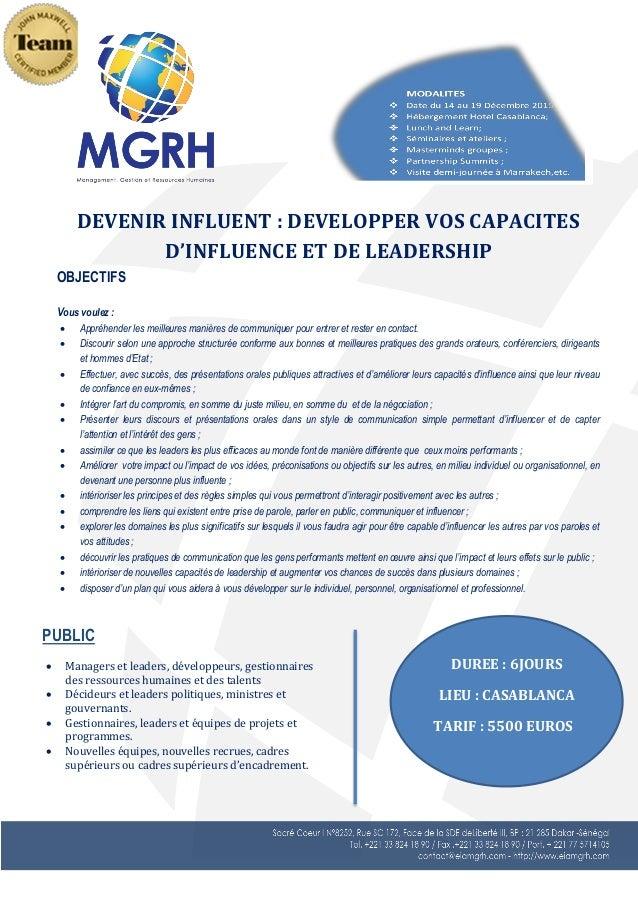 PUBLIC  Managers et leaders, développeurs, gestionnaires des ressources humaines et des talents  Décideurs et leaders po...