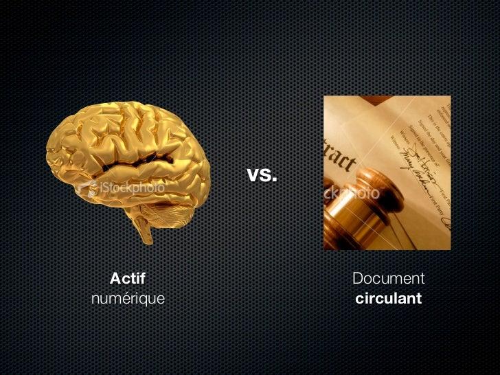 vs.      Actif           Document numérique         circulant