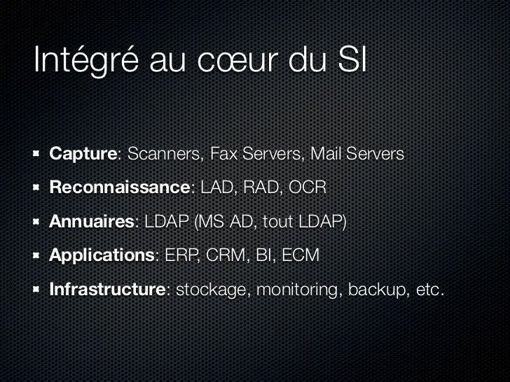 Nuxeo Courrier en 5 mots  1. Capture - Reconnaissance 2. Diffusion - Distribution 3. Workflow - Traitement / Traçabilité 4....