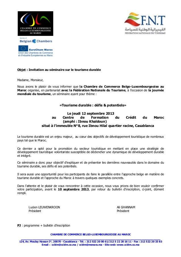 s minaire tourisme durable chambre de commerce belge