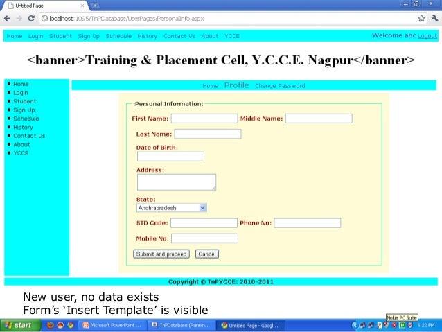 Training Amp Placement Database Management System