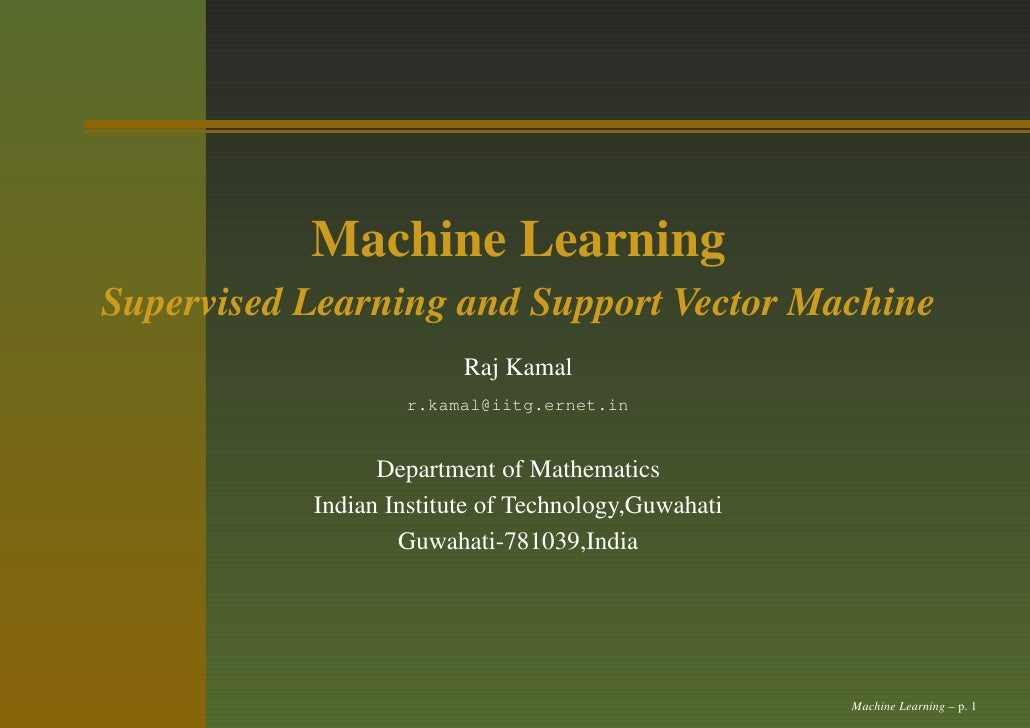 svm machine learning