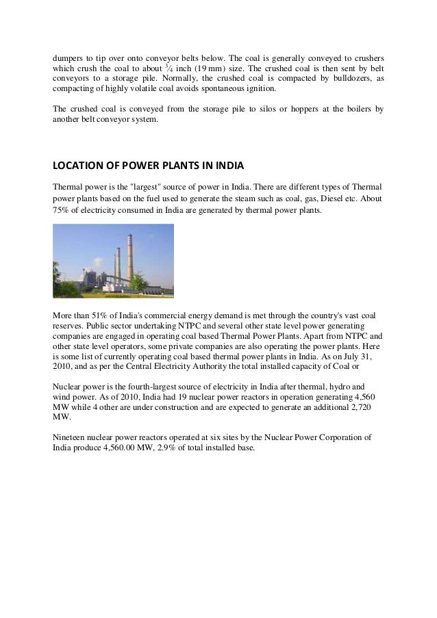 report on thermal power plant