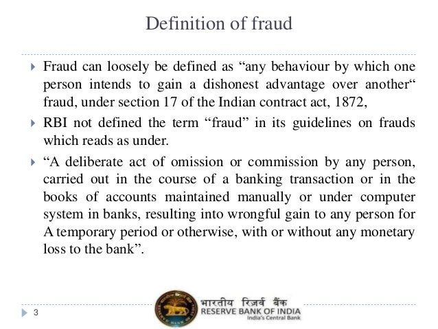 Fraud in the Banking Sector  Slide 3