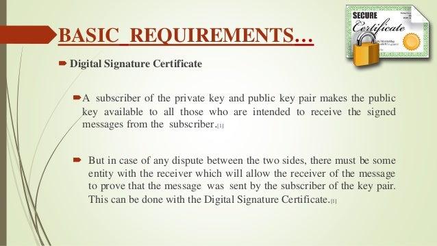 Seminar ppt on digital signature.