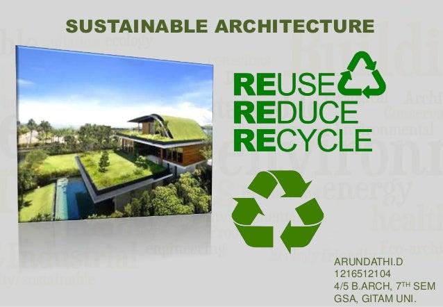 Sustainable architecture - ^