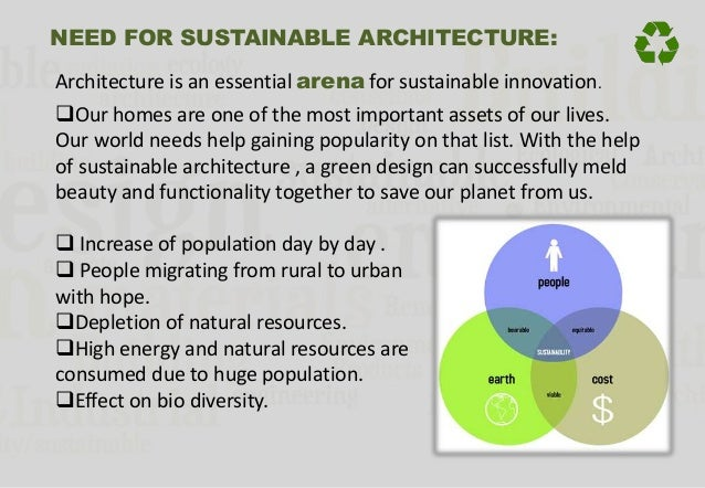 6. NEED FOR SUSTAINABLE ARCHITECTURE: ...