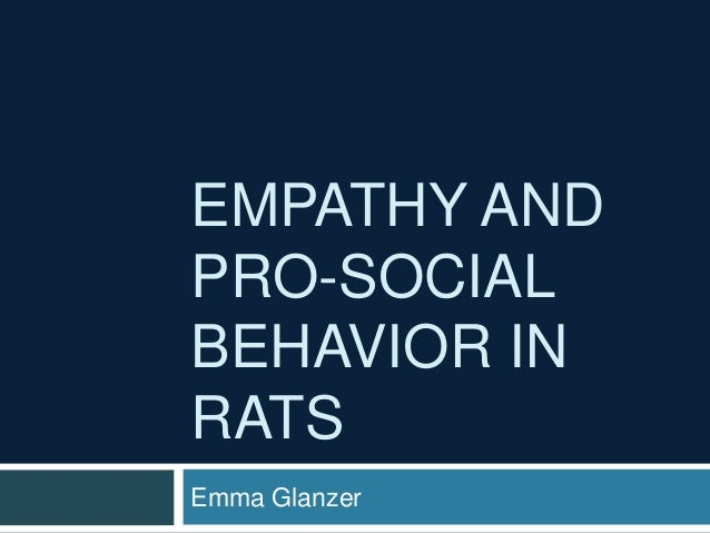 empathy and pro social behavior The link between empathy and prosocial behavior has been the subject of empirical investigation for decades this author presents a selective review of this work and a consideration of some of the most important theoretical issues that have arisen during this time.